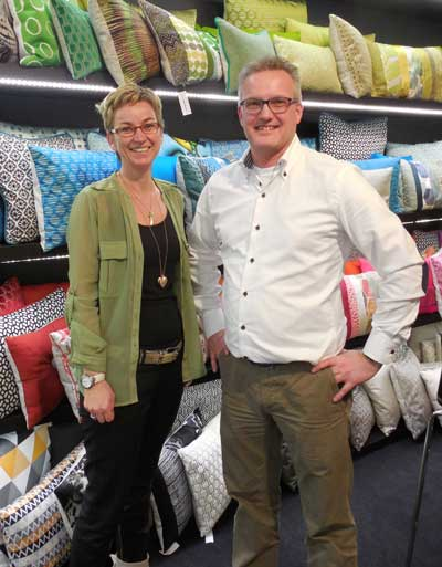Karin and Robert Elberse of Claudi reported good traffic in their Ambiente showroom.