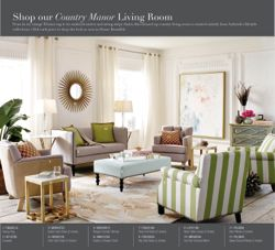 Safavieh's new Dream Rooms microsite features 10 themed lifestyle room photos showcasing Safavieh products, such as the Country Manor theme shown here.