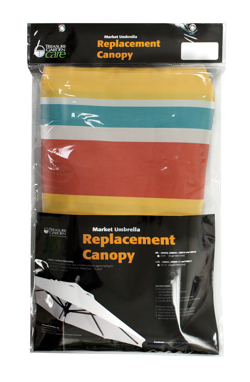 Treasure Garden's Replacement Canopy Program includes see-through packaging that features descriptive copy and allows consumers to easily select their preferred style.