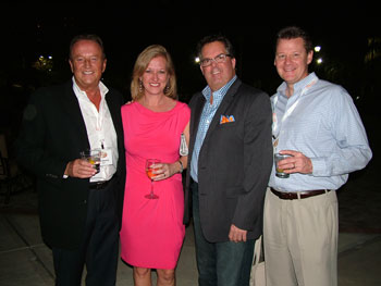 Posing out on the patio – from left, Bob Gaylord of Agio, Michelle Doy, Kevin O'Brien and Jeff Doy, all of O'Brien et al.