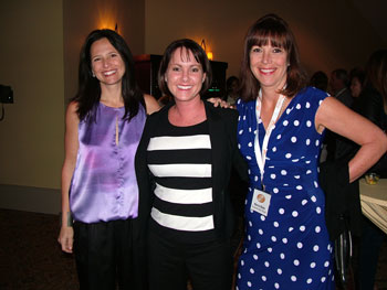 A talented trio for sure — from left, Natalie Scott of Outdura, Tami Newton of Leader's Casual Furniture and Marcia Blake of Sunbrella/Glen Raven.