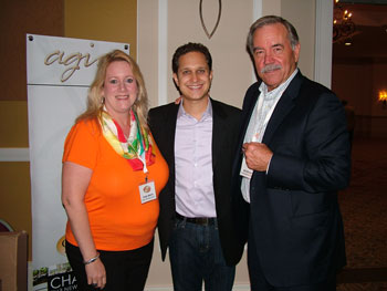 Dallas Market Center COO Cindy Morris and CEO Bill Winsor flank keynote presenter Jason Dorsey, also known as The Gen Y Guy, who proved to be a popular speaker.