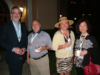 Keynote speaker David Zach, Salvatore Carrara and Deborah Dill of Anacara and Margaret Chang of Treasure Garden at the opening night event.