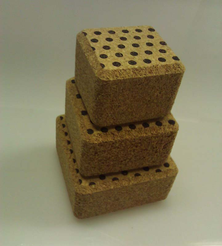 A Harvest Company Cork Stacker block set