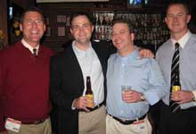 Nick Chmil, left, Reed Kefer, John Tompkins and Jason Taylor, all Roth & Tompkins Textiles.