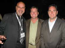 Frank Lorenzo, left, AICO; Tim McGee, Merchandise Mart Properties Inc., High Point; Paul Hauser, Leggett & Platt.