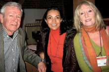 Tony Langley, left, Classy Coverups; Marianna Figueroa, Marianna Figueroa Lifestyle; and Linda Skeen, Brentwood Textiles.