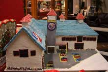Decorations included a gingerbread version of the Gallery store.