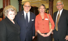 Connie Grund, left; Ed Grund, A.R.T. Furniture; Beth Sibbick; and Bill Sibbick, A.R.T. Furniture.
