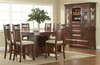 This Vantana casual dining set in Arts & Crafts styling is among the additions to Broyhill's Express Program, with all items in stock and available for immediate shipment.