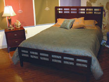 This transitional bedroom from Lifestyle Enterprises retails at about $849 for a five-piece group.
