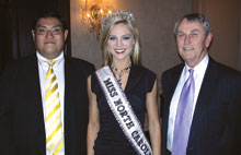 Simon Siow, left, Lifestyle Enterprise; Kristen Dalton, Miss North Carolina USA; and James Riddle, Lifestyle.