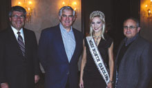 Nick Gonzales, left, Lifestyle Enterprise; Steve Tronstein, Gardner-White, Warren, Mich.; Kristen Dalton, Miss North Carolina USA; and Aime Fitzhugh, Gardner-White.